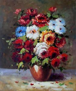 Quality-Hand-Painted-Oil-Painting-Impression-Floral-Still-Life-20x24in