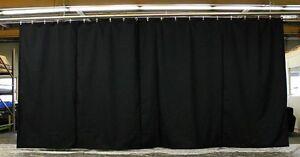 Black Stage Curtain/Backdr<wbr/>op/Partition, 11 H x 30 W, Non-FR