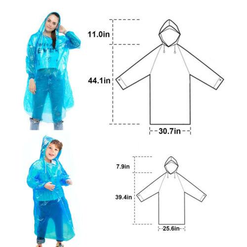 8x Disposable Outdoor Camping Travel Hiking Emergency Rain Coat Raincoat Poncho、