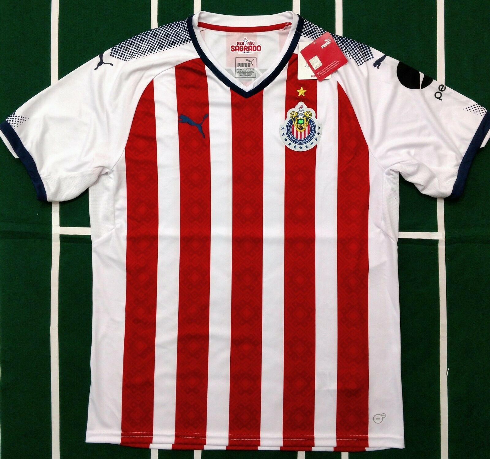wholesale dealer ffee8 668be PUMA CHIVAS DE GUADALAJARA JERSEY LOCAL/HOME 2017/18 SHORT SLEEVE S TO XXL  NWT