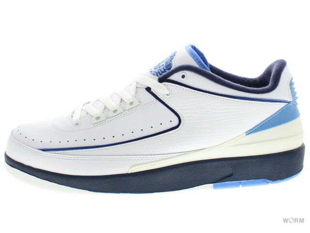 AIR JORDAN 2 RETRO LOW 309837-141 white midnight navy-univ bluee 2 Size 10.5