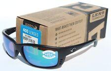 a0daa6a74212b COSTA DEL MAR Zane POLARIZED Sunglasses Black Green Mirror 400G NEW  189