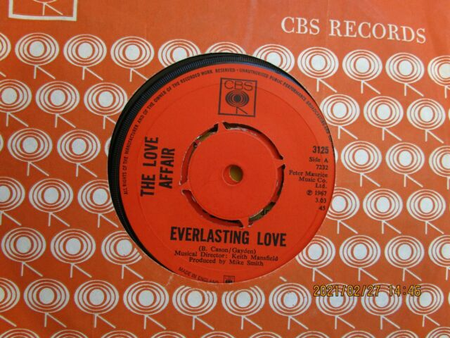 THE LOVE AFFAIR=EVERLASTING LOVE  EX-