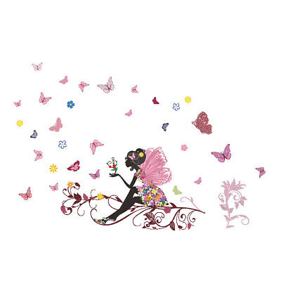 Butterfly Wall Sticker Creative Art Mural Kids Room Removable Fairy Wall Paper
