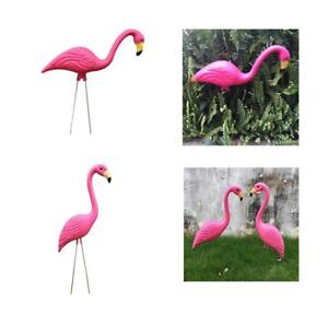 Image Is Loading 2x Pink Flamingo Home Decor Yard Garden Lawn