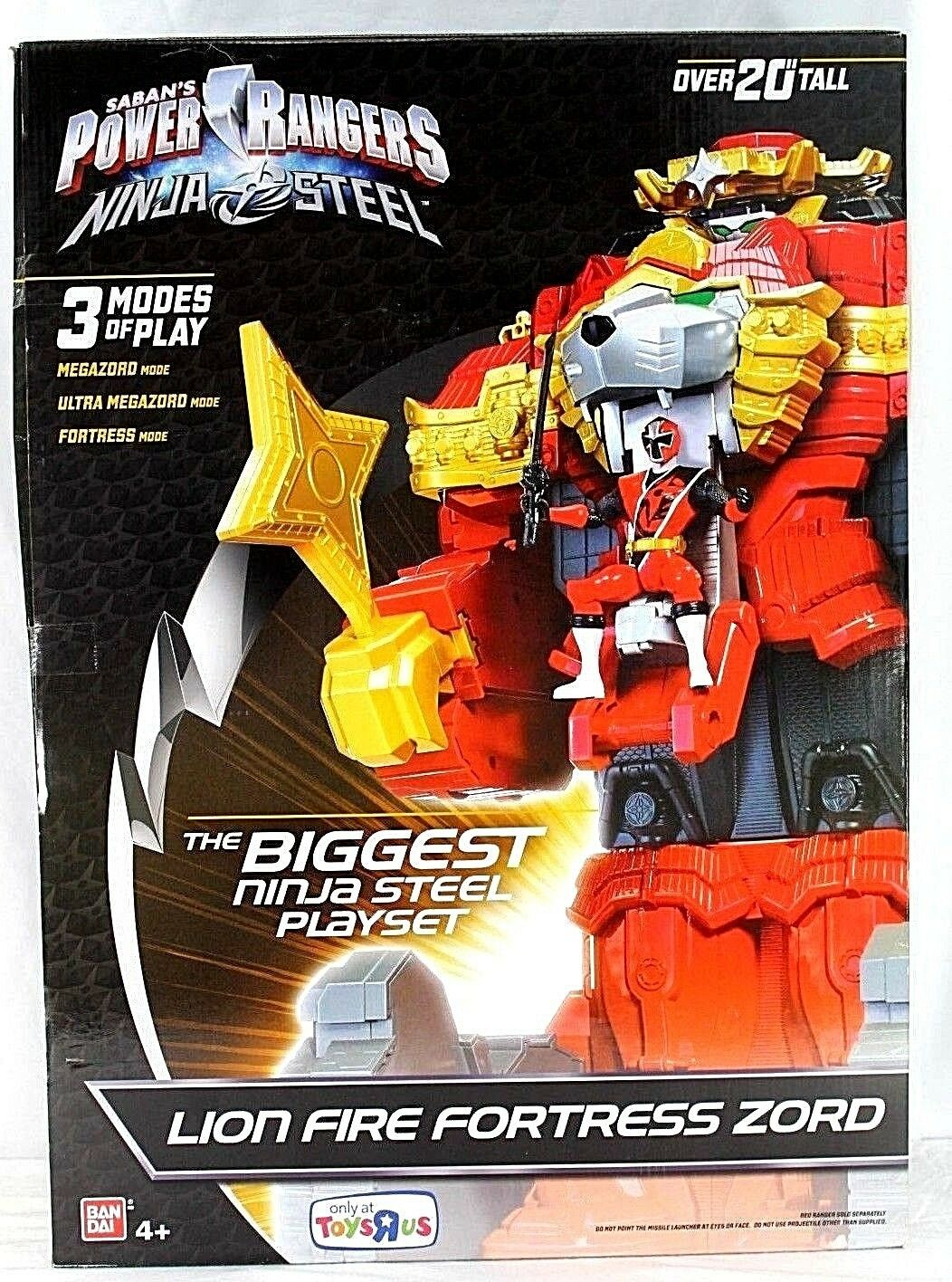 Saban's Power Rangers Ninja Steel Lion Fire Fortress Zord 20+  Toys R Us