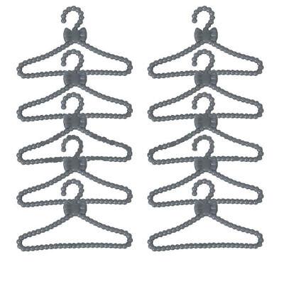 20Pcs Pink Hangers for  Dolls/' Clothes Accessories Plastic Hangers LP