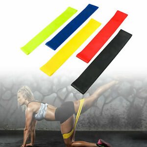 RESISTANCE-BANDS-SET-LOOP-Exercise-Yoga-5pc-Elastic-Fitness-Gym-Training-Workout