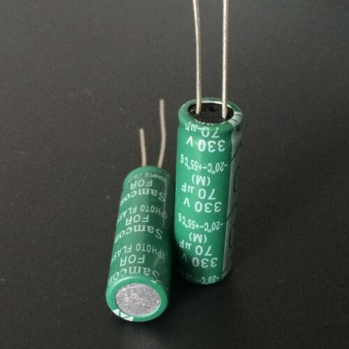 20pcs Samcon Photo Flash PH capacitor 330V70uf 330V 10x30mm