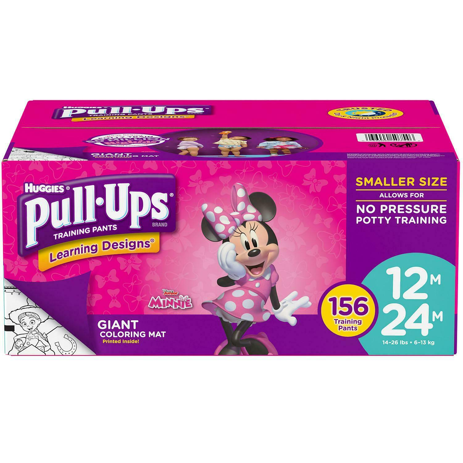 Huggies Pull Ups Night Time Potty Training Pants for Girls Size 6 Large 16-23kg 10
