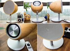 Modern 2 Channel Wireless Bluetooth NFC 4.0 Wood Speaker with Touch Surface