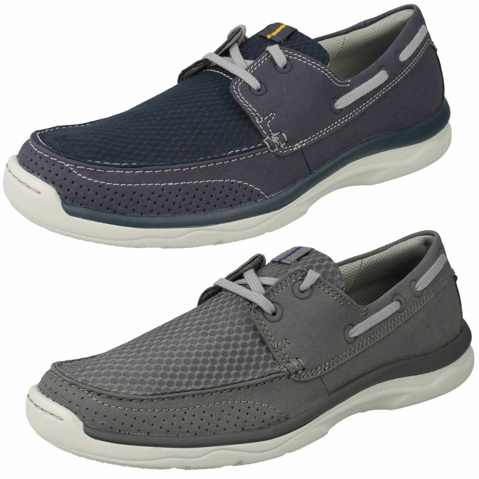 Mens Clarks Cloudsteppers Lace Up Shoes Marus Edge