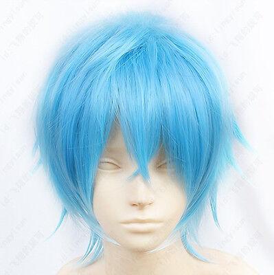 72 Karneval KAROKU Short Blue Cosplay Wig Free shipping+Wig cap