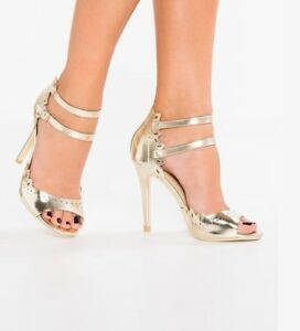 Heels Vero New In Sandals Box Moda Size 6 Gold Amsterdam AIUTqFwIxr