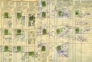 82 REVENUES 1944/58 VILNIUS LITHUANIA WILNA HOME REGISTRY BOOK USSR RUSSIA