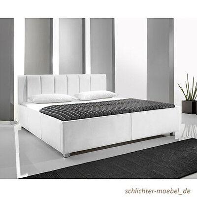 MYLIFE Polsterbett Kunstlederbett Designbett Bett Futonbett 140x200 - Weiss