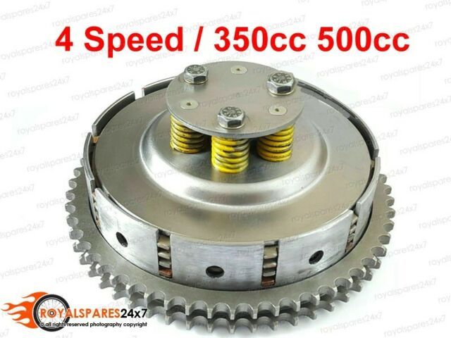 Royal Enfield 4 Speed 5 Clutch Plates Complete Assy 350cc 500cc