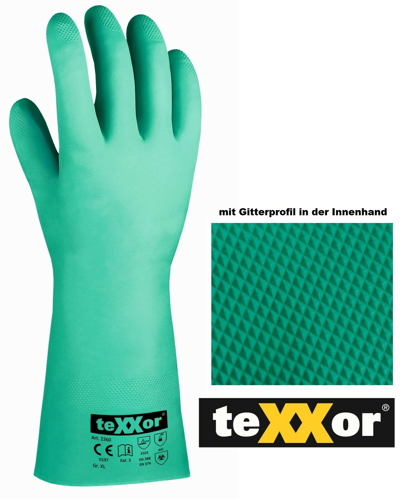 Nitril Arbeitshandschuh Asatex Arbeitsschutz Chemikalienschutz-Handschuh