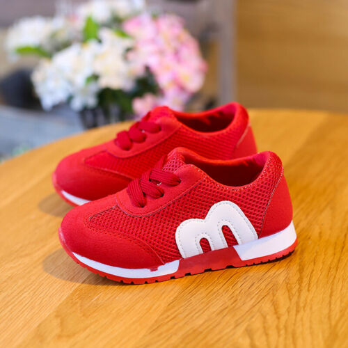 Breathable Kids Boy Girls Shoes Toddler Babys Sport Shoes Students Sneakers Size