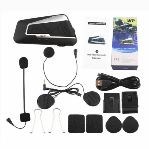 1200m Helmet Intercom 6 Riders Bluetooth Motorcycle Headset Bass Stereo Voice FM