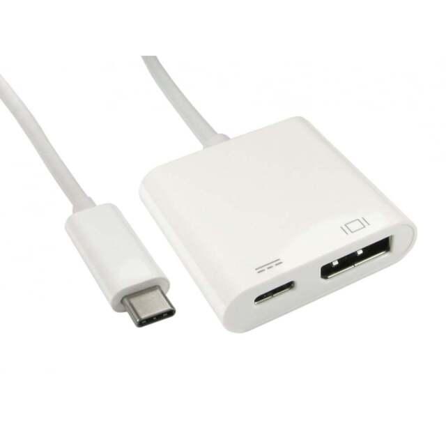 USB 3.1 Tipo C A DISPLAYPORT ADAPTADOR con PD Puerto para Samsung S8 PC MAC