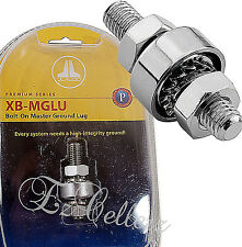 JL AUDIO XB-MGLU Bolt On Master Battery Ground Lug Nut Post 1/0 8 4 2 AWG Amp