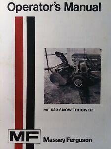 Massey Ferguson Lawn Garden Tractor 620 Snow Thrower Impl Owners Manual Mf 10 12 Ebay