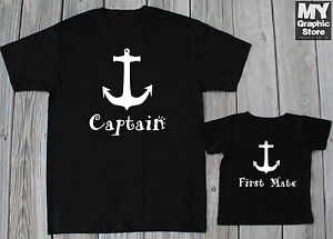 9ff227aa Image is loading Captain-First-Mate-Matching-Shirts-Fathers-Day-Gift-