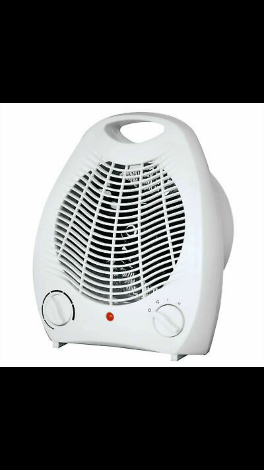 THERMO White 2000W Upright Fan Heater