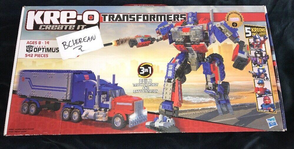 Transformers Kreo Kre-O 30689 Optimus Prime neuf scellé Set 542 PIECES