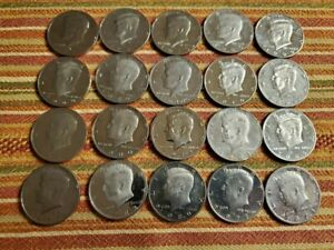 1971 S Clad Proof KENNEDY Half Dollar Roll 20 Coins 50c from US Proof Sets
