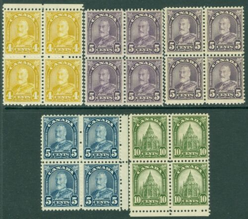 EDW1949SELL CANADA 193031 Unitrade #16870, 69a, 73 Blks of 4 VF MNH Cat $336