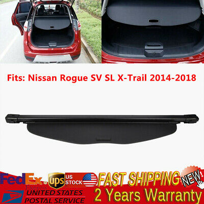 For 2014-2019 Nissan Rogue Luggage Cargo Cover Security Rear Trunk Black Shade