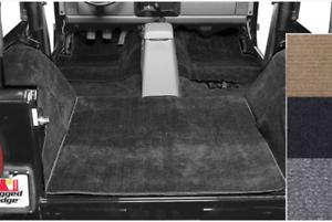 Omix Deluxe Carpet Kit, Black for 76-95 Jeep CJ/Wrangler YJ # 13690.01