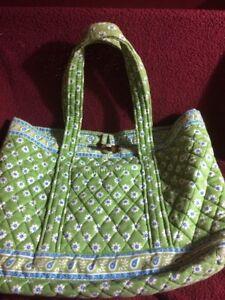 f99f7ec020 Vera Bradley blue and lime green Daisy Flowers handbag purse with ...