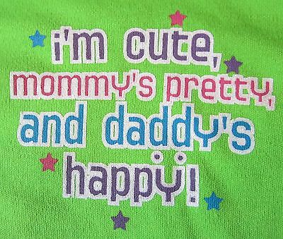 1st Father/'s Day /& 4th of July Mommy/'s Pretty and Daddy/'s Happy Onesie NB-24 Mos