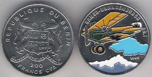Benin 200 Francs CFA 1995 Plane Aircraft Color UNC