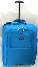ELECTRIC BLUE WHEELED CARRY ON CABIN FLIGHT RYANAIR/EASYJET TROLLY BAG SUITCASE