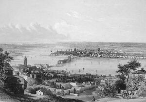 ITALY-Mantua-155-Years-Old-Antique-Print-Engraving