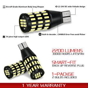 AUXITO 2X CANBUS T15 912 921 LED Reverse Backup Light Bulb  White Error Free EA