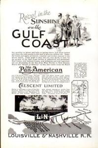 Advertising-Gulf-Coast-The-Pan-American-All-PullmanLouisville-amp-Nashvile-R-R-1926