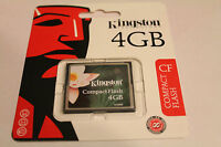 1pcs 4gb Kingston Compactflash Memory Card For Dslr Cf Canon Nikon Cameras