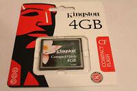 1pcs 4gb Kingston Compactflash Memory Card For Dslr Cf Canon Nikon Cameras
