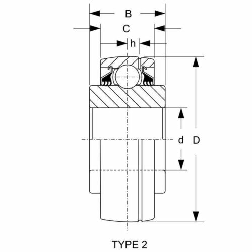2x GW211PPB8 Agricultural Bearing Farm Equipment Oil Hole Ag DS211TTR8