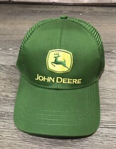 181f30a04d7 Image is loading John-Deere-Tractor-Hat-Trucker-Baseball-Cap-Adjustable-