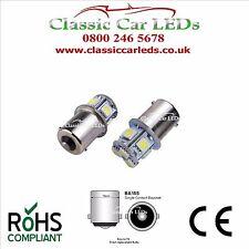 2x 6V 6 VOLT 8 SMD 5050 LED BULBS GLB205 BA15S 5W POSITIVE EARTH NEGATIVE EARTH