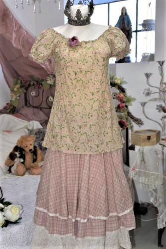 Les Ours fleur vert Cotton Bluse // Top Lila