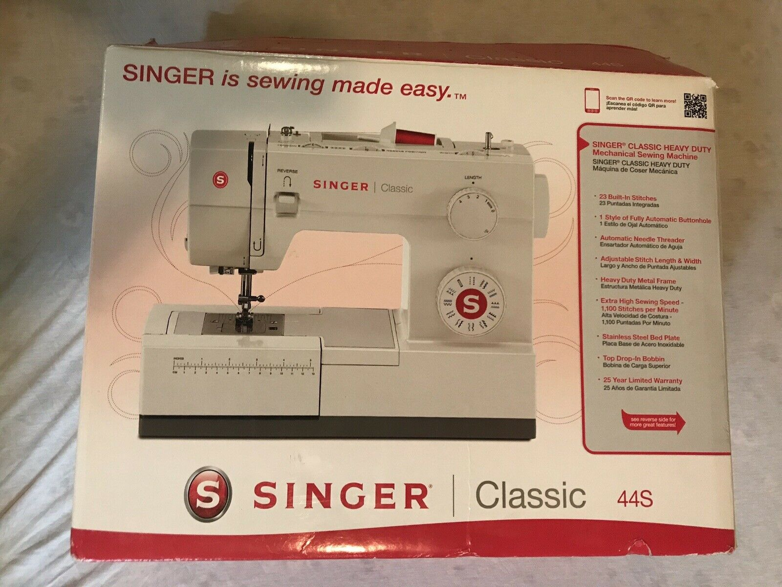 s l1600 - SINGER Heavy Duty 4423 Sewing Machine Open Box Excellent Condition
