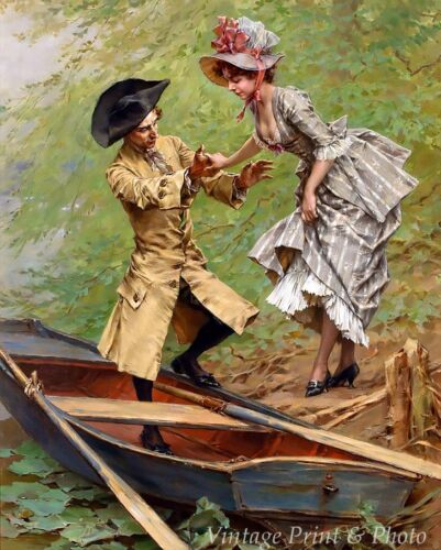 The Boating Party by Frederik H Kaemmerer Art Man Woman Romance 8x10 Print 0927