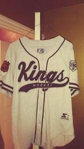 timeless design 4bd63 8503e Details about Vintage La Kings Throwback Baseball Script Starter Jersey  Large